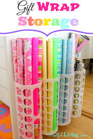 how to store wrapping paper and gift bags i added gift wrap storage restful living to an inlinkz linkup