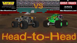 monster truck videos crashes blast crash up toy cars son uva theme song son grave digger