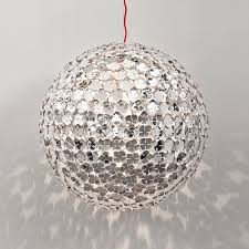 Sphere Ceiling Light Large Italian Silver Sphere Ceiling Light Juliettes Interiors
