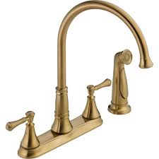 delta kitchen faucet bronze delta single handle pull sprayer kitchen faucet in