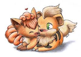 vulpix and growlithe love by togechu on deviantart