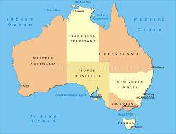 Political Map Us Australia Political Map Simple Map Of Australia Oceans