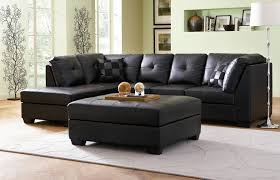 L Shaped Sleeper Sofa Dashing Small Black Leather L Shaped Sleeper Sofa For Bright Room