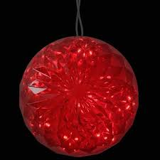 6 led lighted hanging sphere outdoor