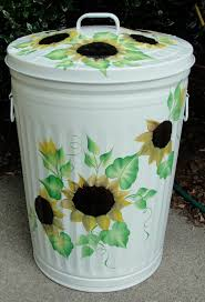 painted metal garbage cans decorative metal galvanized trash