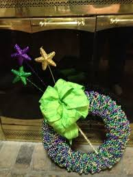 mardi gras bead wreath mardi gras bead wreath 12 inch with green peacock bow wreaths