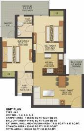1000 Sq Ft Apartment by Ska Greenarch In Techzone 4 Noida Flats For Sale In Ska Greenarch