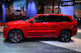 jeep laredo 2014 jeep grand cherokee srt red vapor side at the 2014 paris motor