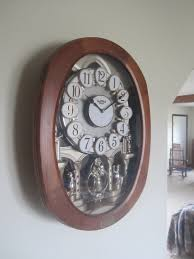 inside an amish home musical clock