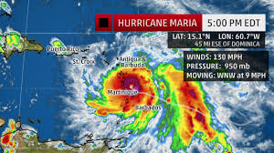 St Lucia Map Hurricane Maria Now Category 4 Tropical Storm Warning For St