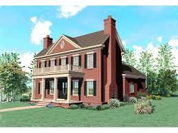 colonial home designs brick home plans brick home with sweeping front covered porch and