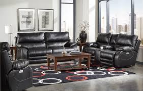 Black Recliner Sofa Set Catnapper Sheridan Power Headrest Power Lay Flat Reclining Sofa