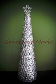 recycled pop can tab christmas tree festive table top christmas