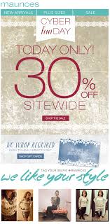 maurices cyber monday sale 2017 cyber week 2017