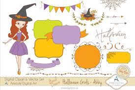 halloween clipart u0026 vector set amistyle digital art