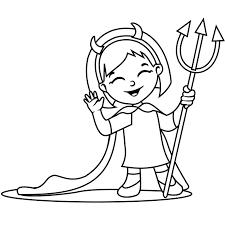 Coloriages de Diable  Les personnages