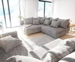 couch mit hocker couch clovis xl hellgrau strukturstoff mit hocker und armlehne