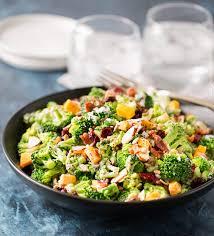 cranberry almond broccoli salad the chunky chef