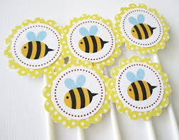 bumble bee cupcakes bumble bee cupcake toppers for birthday or baby shower or any party