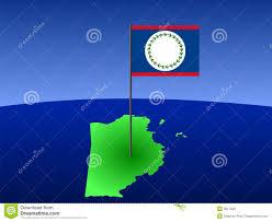 Belize Flag Map Of Belize With Flag Stock Vector Illustration Of Diagram