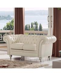 Cream Sofa And Loveseat Tis The Season For Savings On Luca Home Ivory Genuine Italian