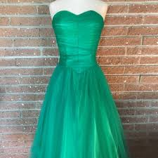 green tulle unique vintage dresses skirts guc xs unique vintage emerald