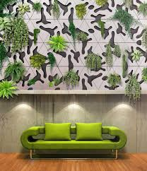 modular concrete green wall tiles for indoor outdoor vertical gardens