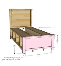 Diy Twin Bed Frame With Storage Best 25 Twin Storage Bed Ideas On Pinterest Diy Twin Bed Frame