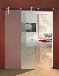 single frosted glass sliding door for small home office design