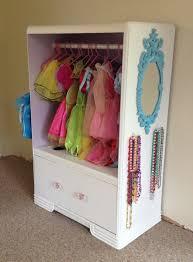 Clothes Cupboard Old Dresser Turned Into A Dress Up Closet Kid Stuff Pinterest