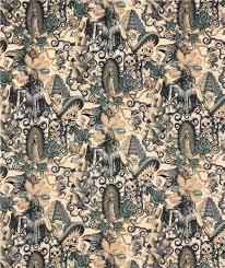 contigo henry fabric with and skulls beige blue