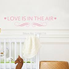 online get cheap love wall stickers aliexpress com alibaba group sweet quotes vinyl wall stickers love is in the air lettering decals for living room bedroom