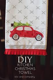 kitchen christmas towel tutorial u create towels christmas