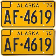 Ak Dmv Vanity Plates License Plates Of The 50 States Alaska Brandywine General Store