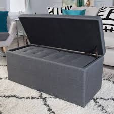 Foot Ottomans Sofa Foot Ottoman Ottoman Seat Leather Ottoman Gray Storage