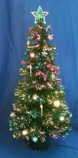 Fibre Optic Slim Christmas Trees - green clover medium fiber optic pre lit christmas tree fiber
