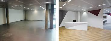 Bespoke Reception Desk Office Refurbishment 10820 Sq Ft 1005 Sq M