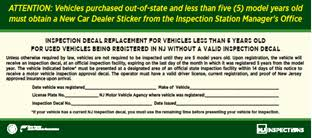 Brake And Light Inspection Price State Of New Jersey Motor Vehicle Commission