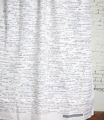 Words Shower Curtain Words Shower Curtain