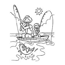 fisherman coloring pages kids