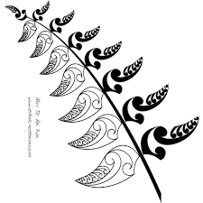 silver fern logo glass partition maori and fern