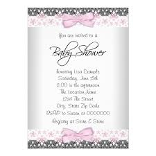 baby girl invitations vintage pink and gray baby girl shower invitation card ladyprints
