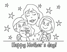 kids and happy mother u0027s holiday coloring page for kids coloring