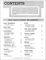 1946 1949 willys jeep equipment manual reprint cj 2a u0026 truck