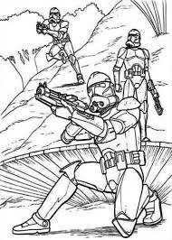 clone troopers standby star wars coloring download