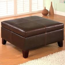 Chocolate Storage Ottoman Chocolate Storage Ottoman Square Folding Faux Leather Cube Tray