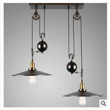 Pulley Pendant Light 2 Nordic Industrial Style Creative Pendant Light Vintage Iron