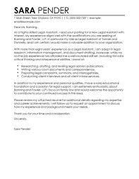 cover letter sample legal assistant cover letter cover letter