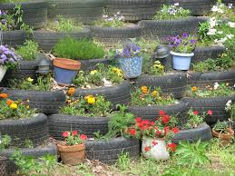 tires used in landscaping retaining wall pinterest tired