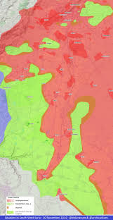 Syria Battle Map by Agathocle De Syracuse Syria Situation In South West 10 Nov 2014